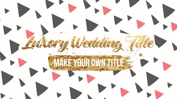 Thumbnail for Luxory Wedding Title Kit