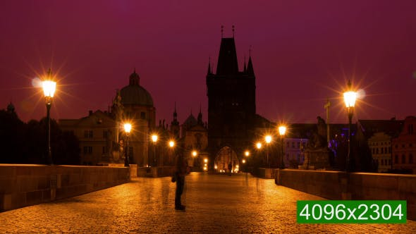 Thumbnail for Tourists and Photographers on the Charles Bridge