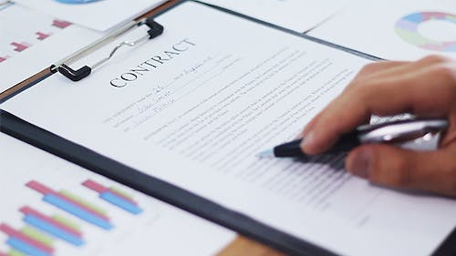 Firm Signs a Contract
