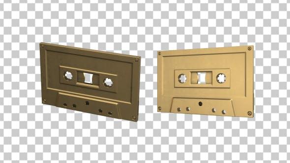 Thumbnail for Isolated Gold Cassette Tape