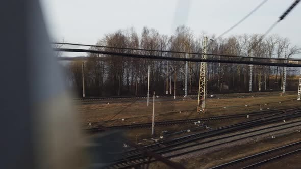 Thumbnail for View From the Window of a High-speed Train on the Like