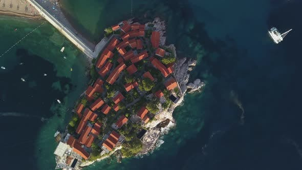 Thumbnail for Aerial Footage of Sveti Stefan Island in Budva