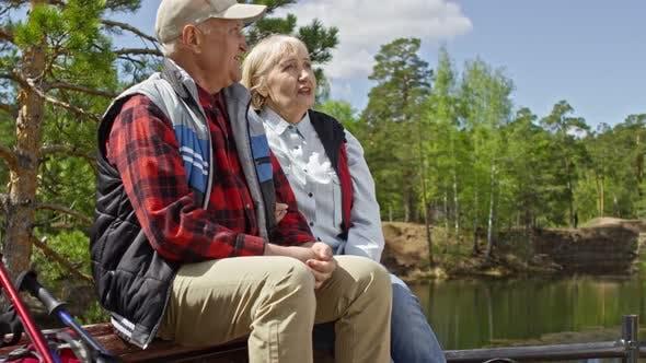 Thumbnail for Senior Couple Enjoying Summer Day in Park