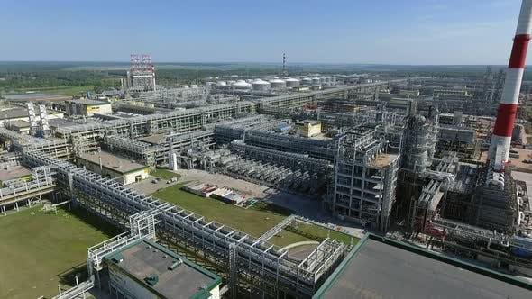 Huge Petroleum Refinery , Aerial View
