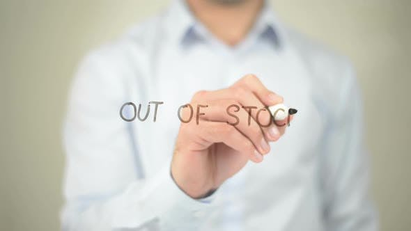 Thumbnail for Out of Stock, Businessman Writing on Transparent Screen
