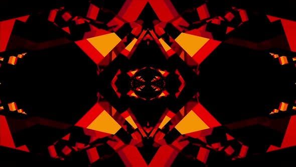 Thumbnail for Seamless Geometric Black Red Vj Loop