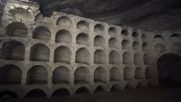 Ancient Wine Cellar in a Rocky Grotto