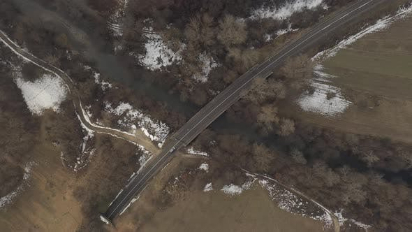 Thumbnail for Traffic on the road from above 4K drone video
