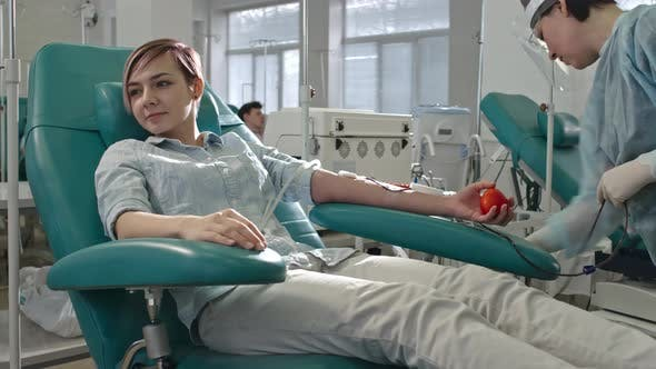 Thumbnail for Young Female Blood Donor at Hospital