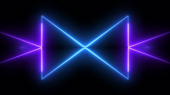 Thumbnail for Dinamic Neon Light Background 4K