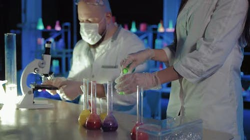 Experiments on the Analysis of Liquids are Conducted in the Chemical Laboratory