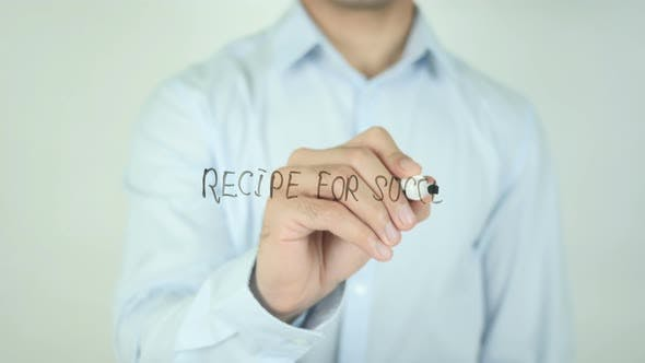 Recipe for Success, Writing On Screen