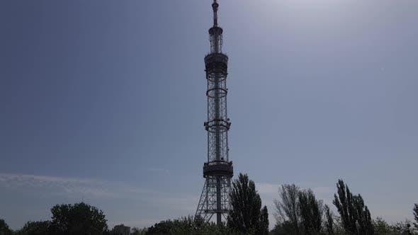 Thumbnail for The Architecture of Kyiv. Ukraine: TV Tower. Aerial View. Slow Motion