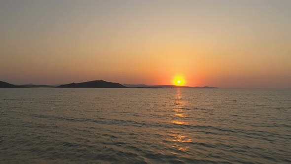 Thumbnail for Evening Scene With Sunset On Sea in Lemnos, Greece