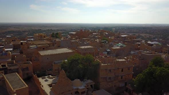 Jaisalmer, Rajasthan, India. Aerial Shot
