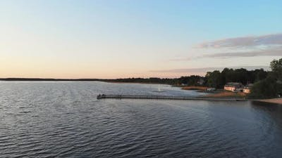 Beautiful Countryside Lake In Lithuania