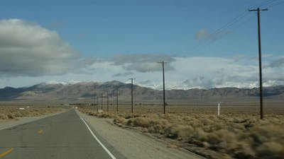 Road Trip to Death Valley Driving Auto in California USA
