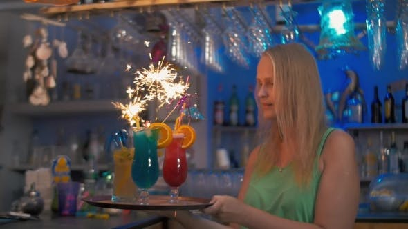 Thumbnail for Celebration Time With Cocktails And Sparklers