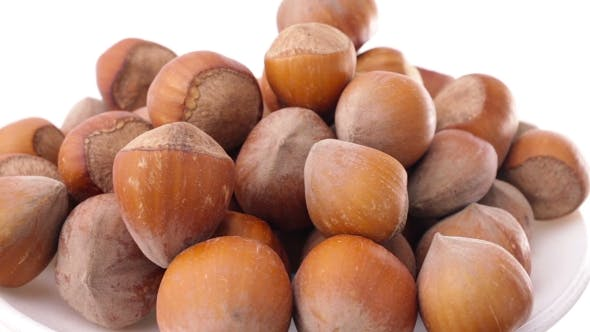 Thumbnail for A Pile Of Shelled Hazelnuts Rotating Smoothly