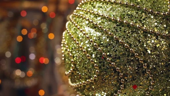Thumbnail for Christmas And New Year Decoration. Abstract Blurred Bokeh Holiday Background.