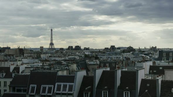 Thumbnail for Dull Cloudy Day Over Paris