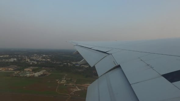 Thumbnail for Wing Of Airplane Flying Above Sri Lanka 101
