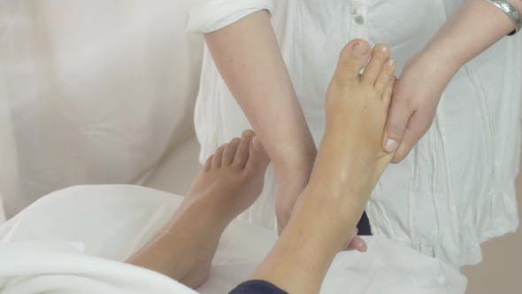 Thumbnail for Masseuse Make Massage Of Right Foot