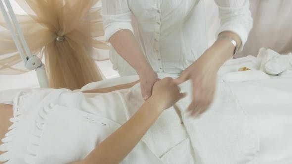 Thumbnail for Masseuse Make Massage Of Fingers