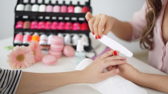 Thumbnail for Manicure Process In Beauty Salon