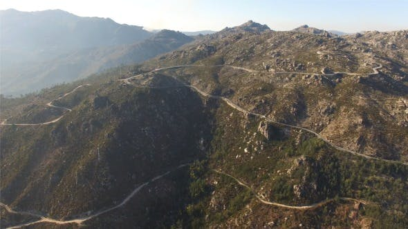 Thumbnail for Aerial View Road on Wonderful Mountain