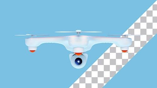 Drohne mit Kamera Fliegen in der Luft
