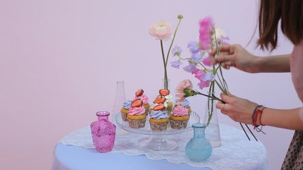 Thumbnail for Girl Decorates A Sweet Table