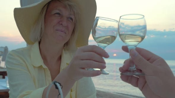 Thumbnail for Smiling Woman Listening a Toast And Drinking Wine