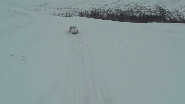 Thumbnail for Driving On Winter Snowy Road