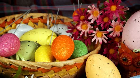 Thumbnail for Colorful Traditional Celebration Easter Paschal Eggs 05