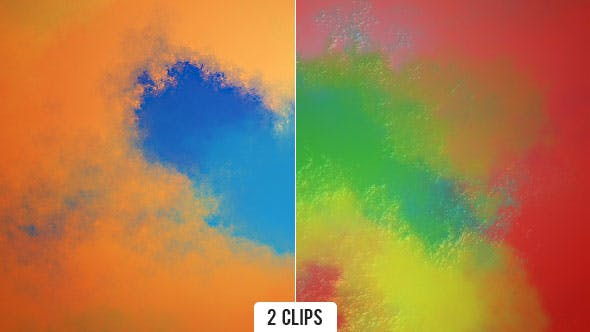 Colorful Paints Spreading Abstract Background