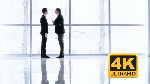 Thumbnail for Business Conversation Of Colleagues In Office