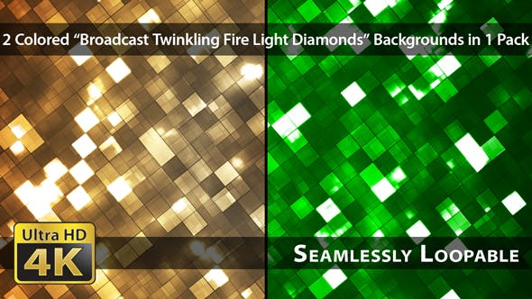 Thumbnail for Broadcast Twinkling Fire Light Diamonds - Pack 01