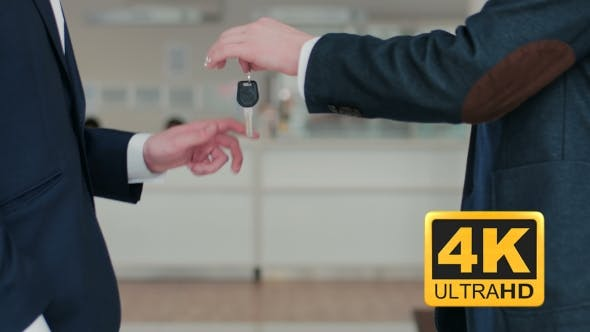 Thumbnail for Car Seller Hands Over The Keys To The Buyer