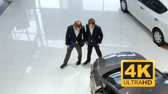 Cover Image for Salesman Helping Customer To Choose a Car