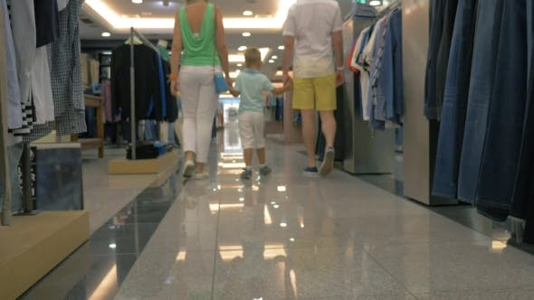 Thumbnail for Family Walking In Clothing Store