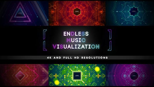 Thumbnail for 10 Endless Music Visualization/ Audio React Tunnel Dance Visualizer/ Party Hard/ Bright BG/ Light