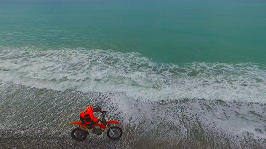 Thumbnail for Motorcycle on the Beach