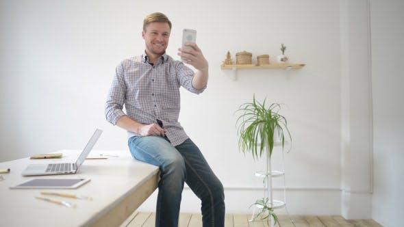 Thumbnail for Man Posing for Taking Selfie