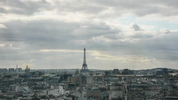 Thumbnail for Clouds Gathering Over The Paris