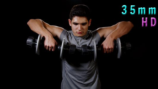 Thumbnail for Dumbbells Workout On Background