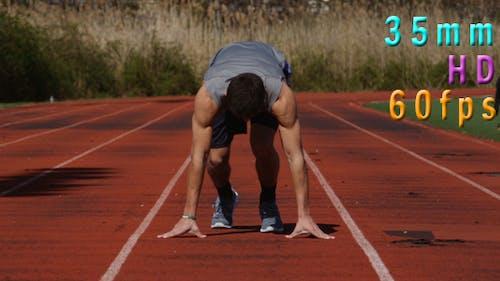 Runner At Starting Line