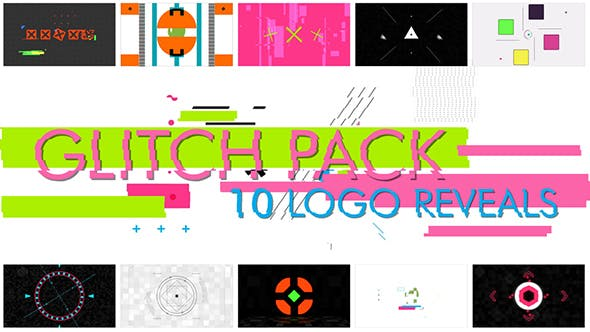 Thumbnail for 10 Глитч Формы Логотипы