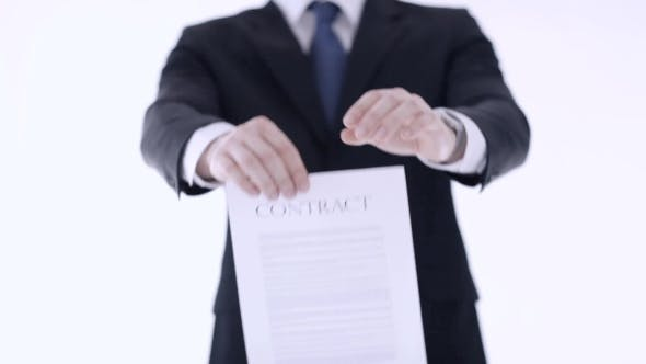 Thumbnail for Businessman Breaking Contract Document 10