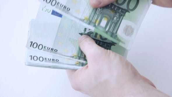 Thumbnail for Hands Counting 100 Euro Paper Money 15